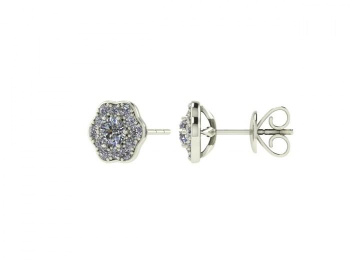 Flowering Diamond Studs