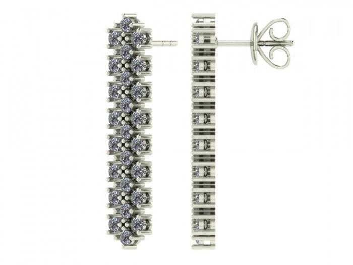 Diamond Knit Studs