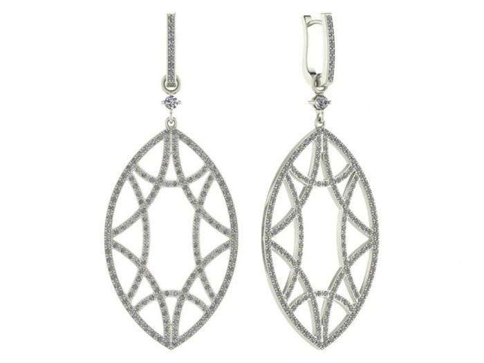Detachable Diamond Marquise