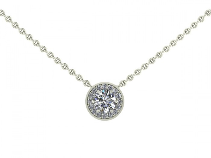 030 Diamond Halo Necklace