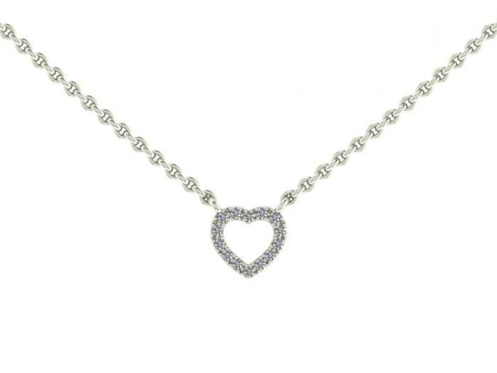Darling Diamond Heart Necklace