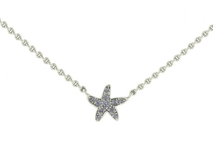 Darling Diamond Starfish Necklace
