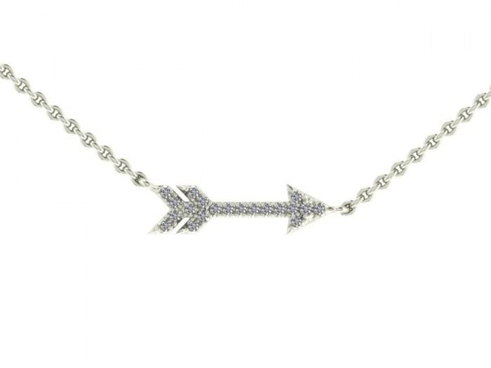 Darling Diamond Cupid Necklace