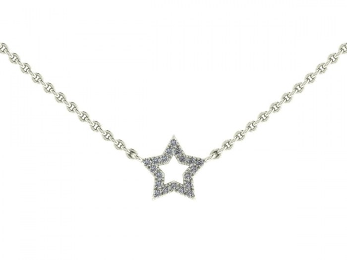 Darling Diamond Star Necklace