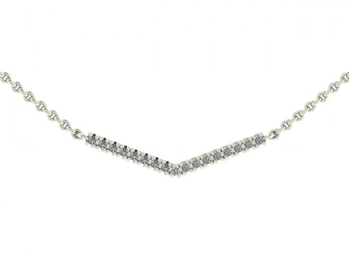 Diamond Corner Necklace