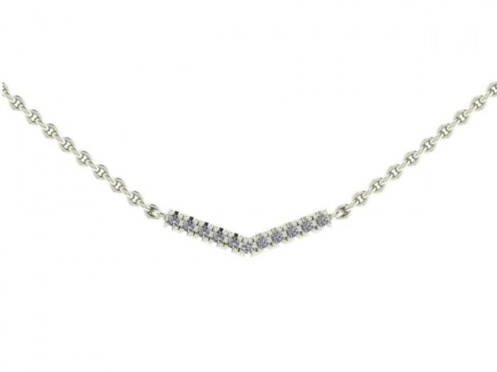 Darling Diamond Corner Necklace