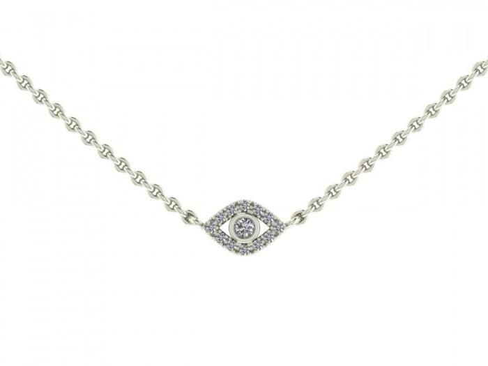 Darling Diamond Evil Eye Necklace