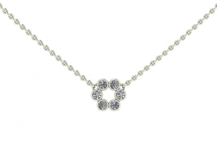 Diamond Bezel Circle Necklace