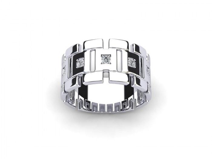 Diamond Grid Ring