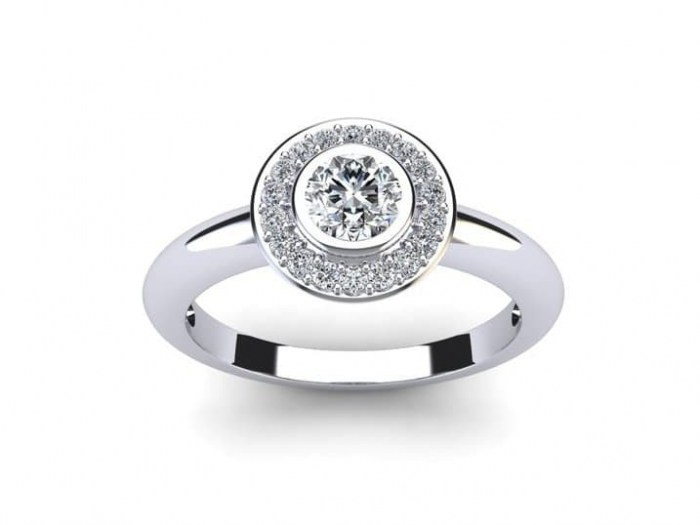 Happy Halo Engagement Ring
