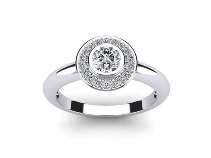 Happy Halo Engagement Ring