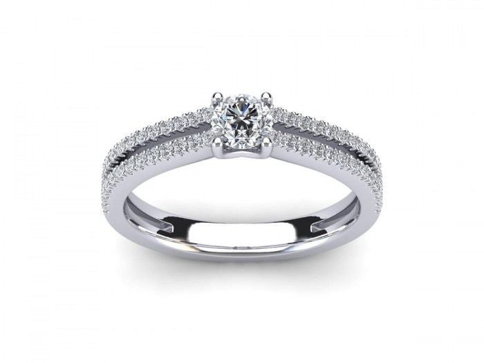 030 Two Row Engagement Ring