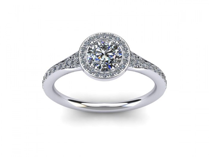 Oasis Diamond Engagement Ring