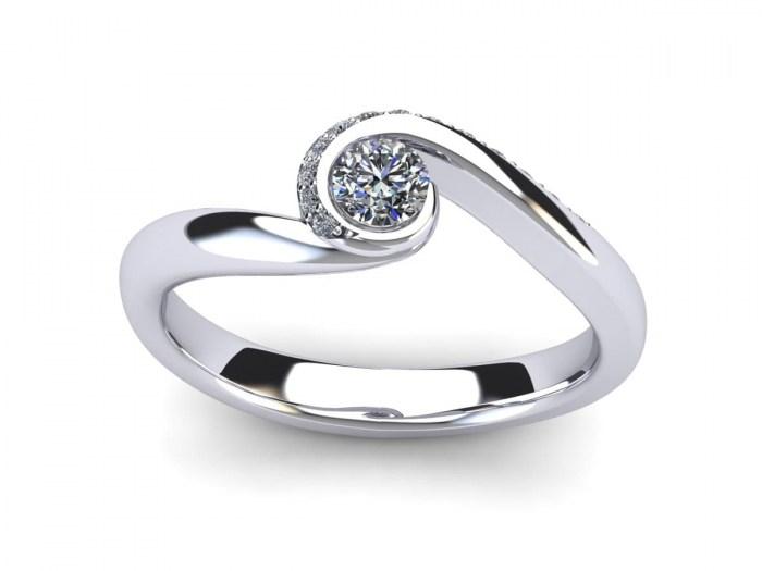 Twirl Diamond Engagement Ring