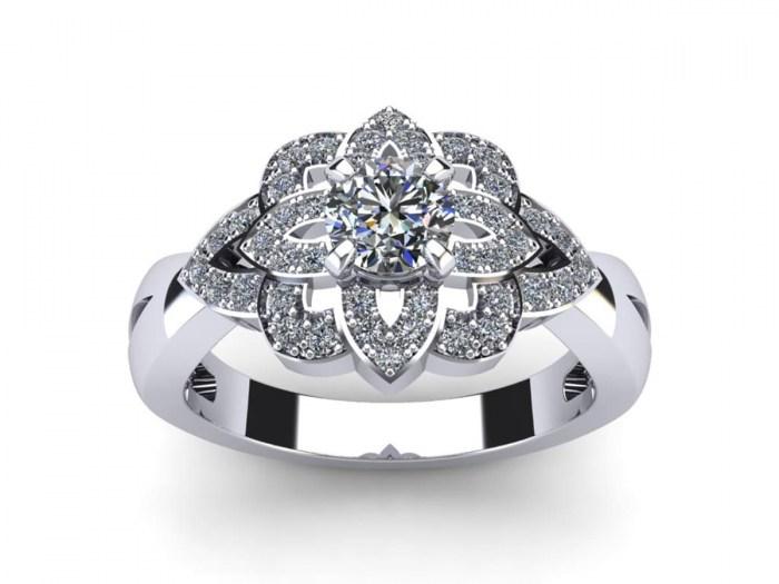 Mosaic Diamond Ring