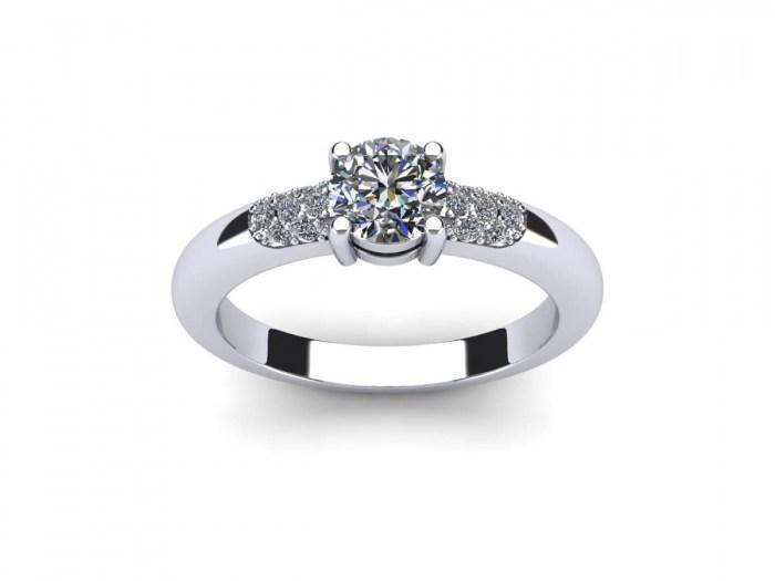 Diamond Dash Engagement Ring