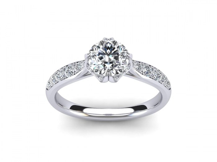 Crescent Love Diamond Ring