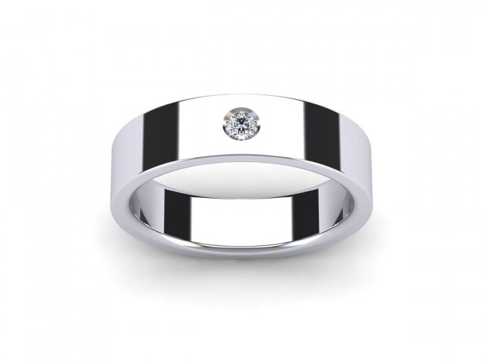 Single Diamond 450 Rectangular Band