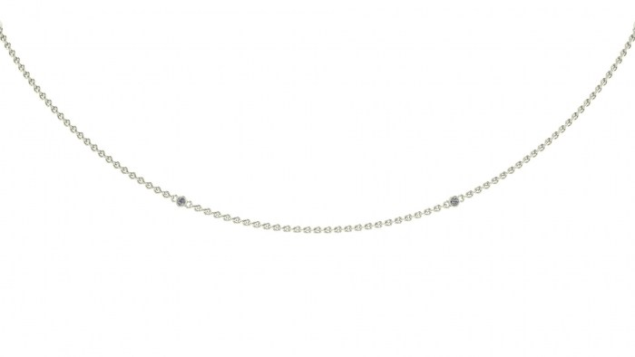 002 Diamond Drizzled Necklace