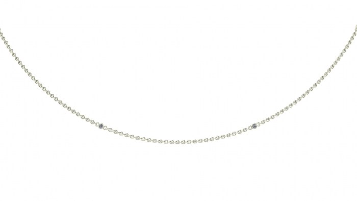 003 Diamond Drizzled Necklace