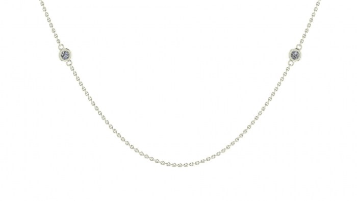 008 Diamond Drizzled Necklace