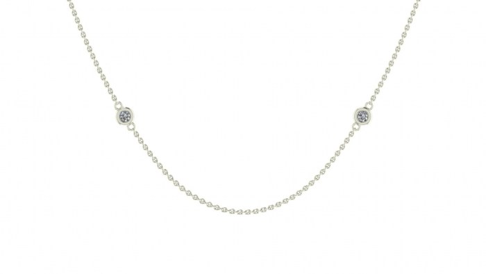 008 Diamond Drizzled Necklace Extra Long