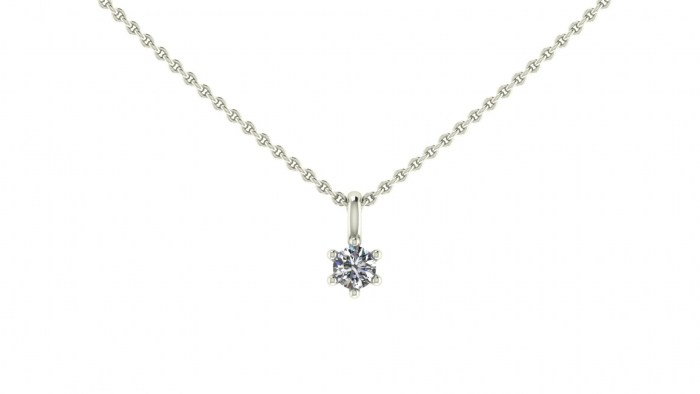 030 Six Prong Necklace