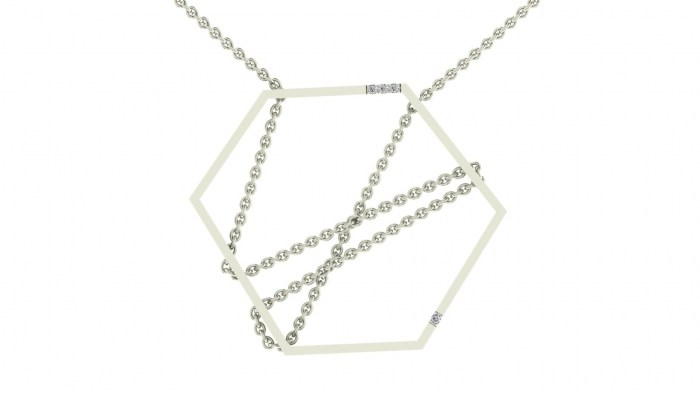 Threaded Hexagon Necklace