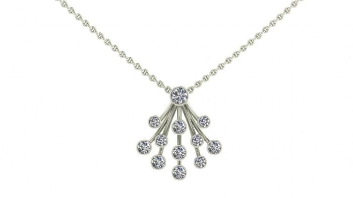 Petite Diamond Waterfall Necklace