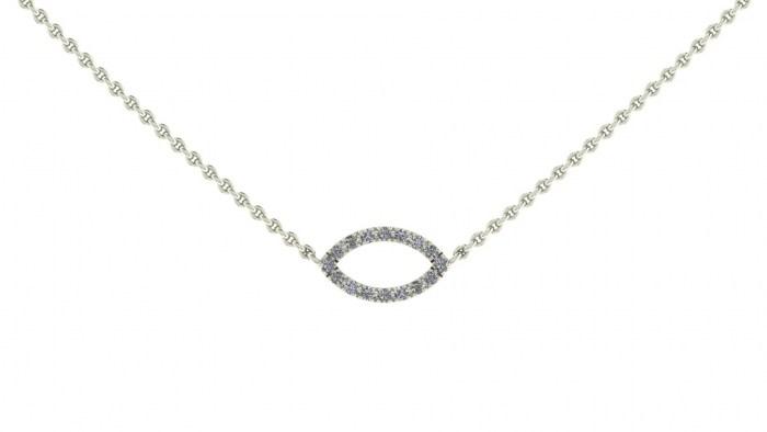 Diamond Marquise Necklace