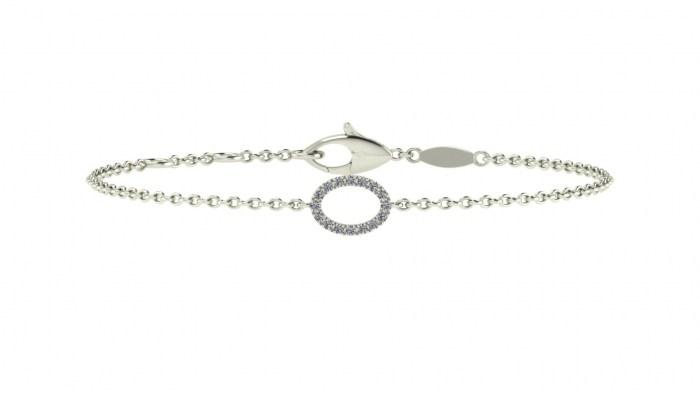 Diamond Oval Bracelet