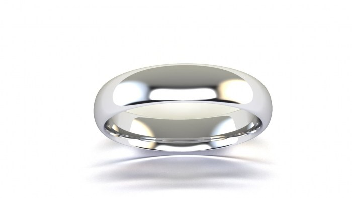 Thin 4 MM Curved Band