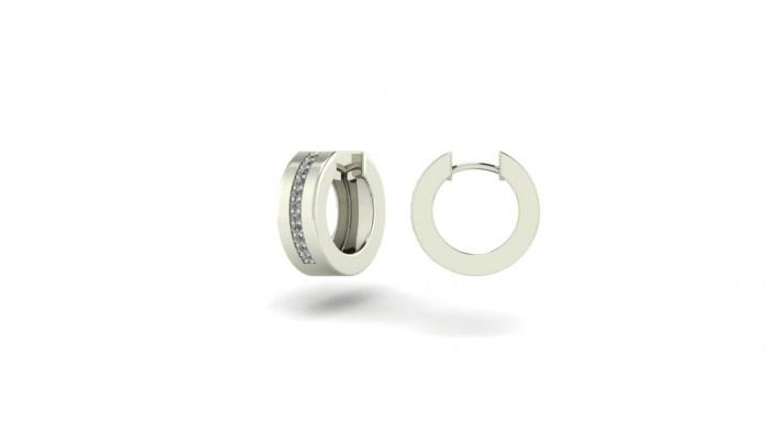 50 Round/Flat Diamond Stripe Creoles