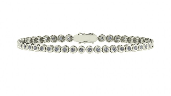 Bezel Set Diamond Eternity Bracelet