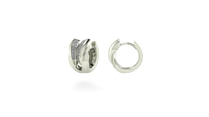Braided Diamond Earrings