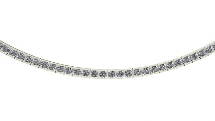 Channel Set Necklace