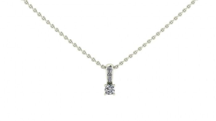 018 Diamond Loop Necklace