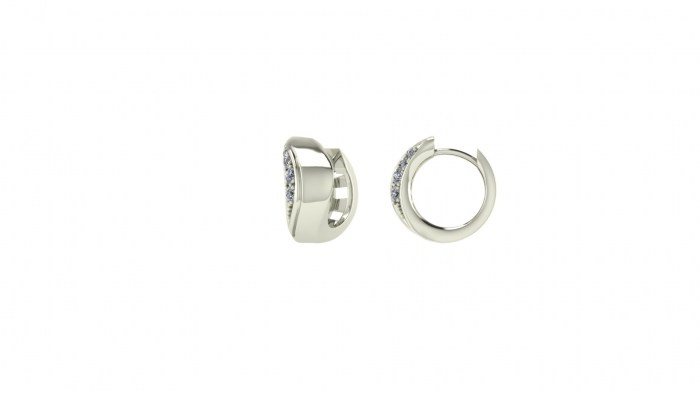 Curled Diamond Earrings