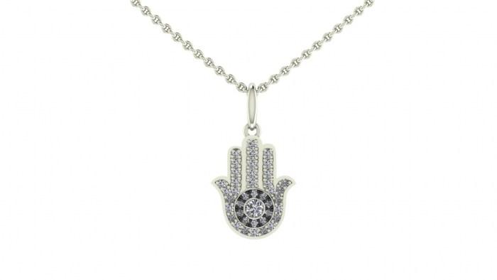 Diamond Hamsa Necklace