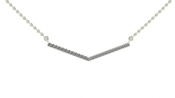 Diamond Insignia Necklace