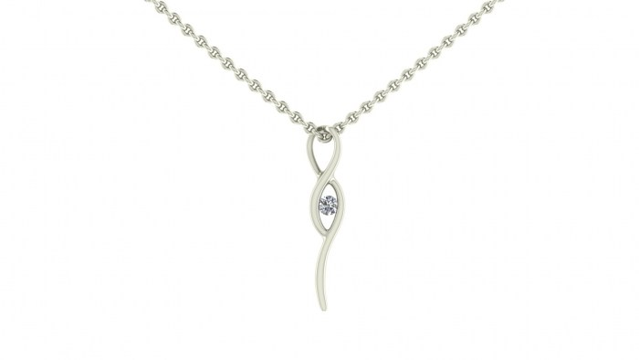 Diamond Swivel Necklace