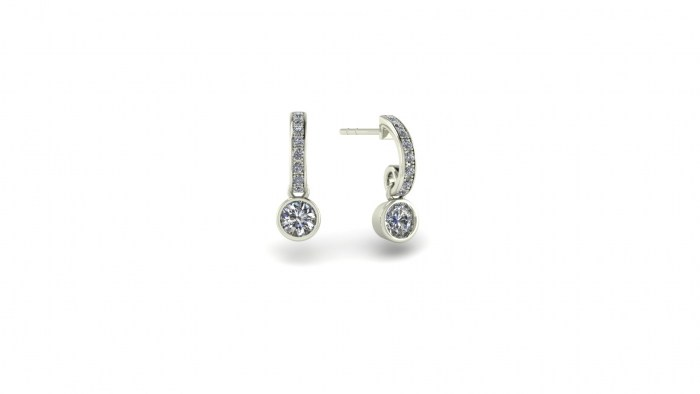 Dynamic Diamond Studs with Diamond Accent