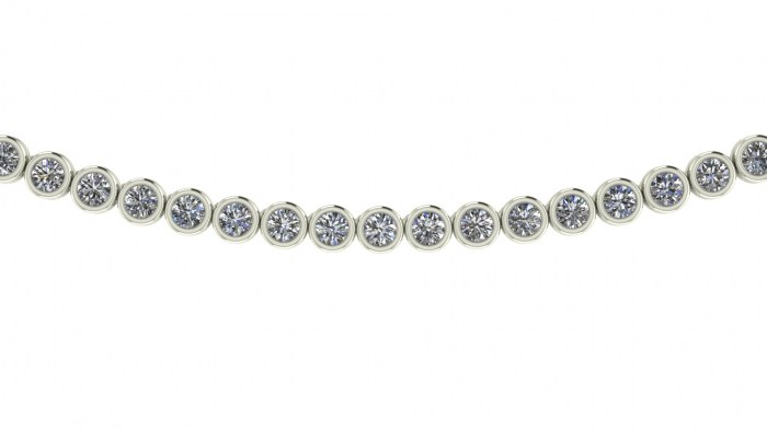 Fine Bezel Diamond Eternity Necklace