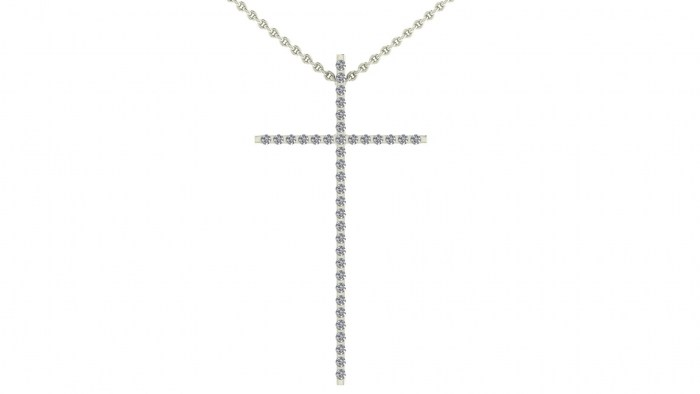 Fine Diamond Cross Necklace
