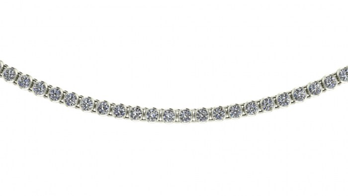 Large Bezel Set Diamond Necklace