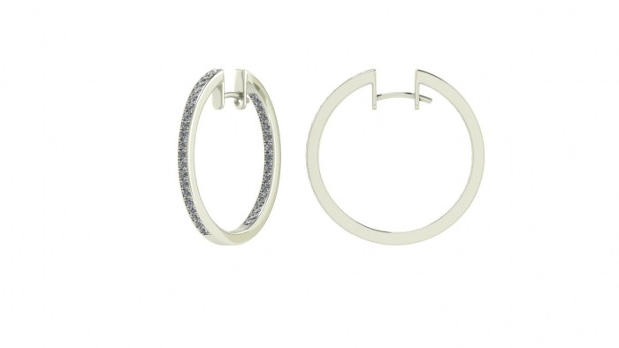 Luxury Diamond Hoops
