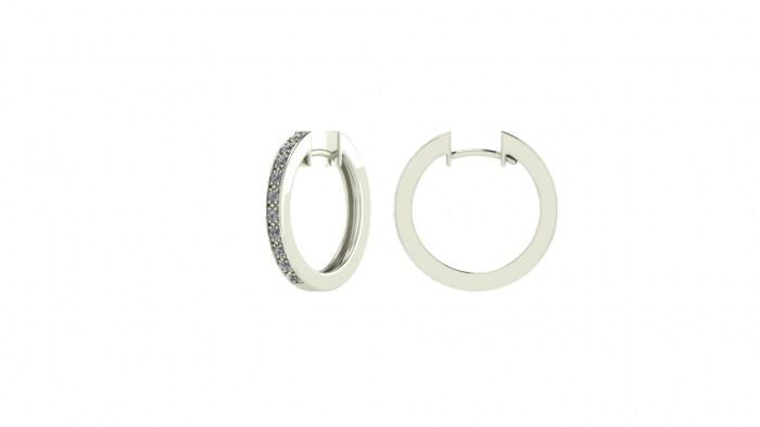 Medium Diamond Hoops