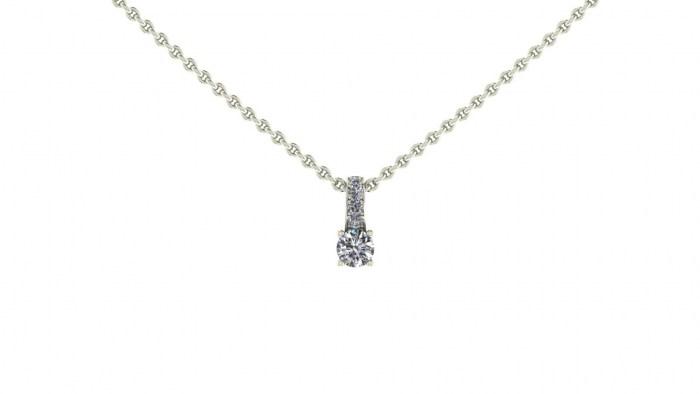Petite Diamond Loop Necklace