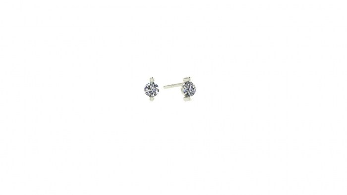 Petite Two Prong Studs