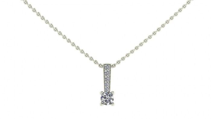 Prong Set Diamond Pendant